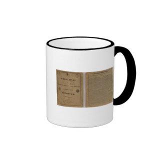 Atlas de la escuela con la geografía moderna tazas de café