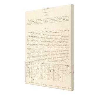 Atlas de la leyenda lienzo envuelto para galerías