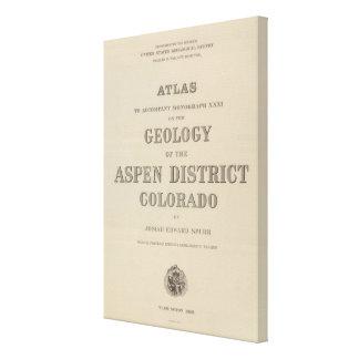 Atlas de la página de título a la geología impresión de lienzo