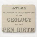 Atlas de la página de título a la geología tapete de ratón
