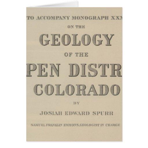 Atlas de la página de título a la geología tarjeta de felicitación