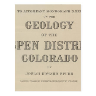 Atlas de la página de título a la geología tarjetas postales