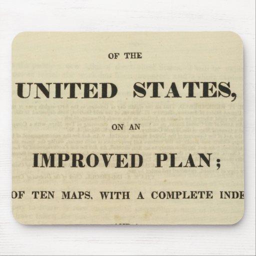 Atlas de la página de título de los Estados Unidos Tapete De Raton