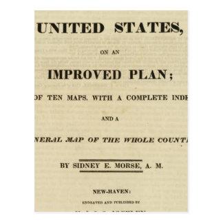 Atlas de la página de título de los Estados Unidos Tarjeta Postal