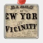 Atlas de la página de título de Nueva York, vecind Adorno Para Reyes