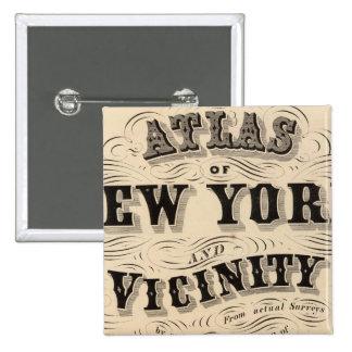 Atlas de la página de título de Nueva York, vecind Pin