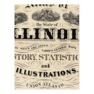 Atlas de la página de título del estado de Illinoi Postales