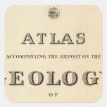 Atlas de la página de título pegatina cuadrada