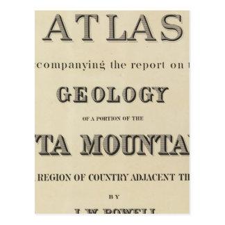 Atlas de la página de título que acompaña el tarjeta postal
