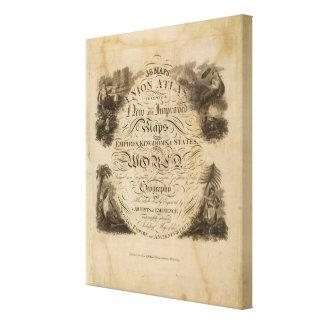 Atlas de la unión de la página de título impresiones en lienzo estiradas
