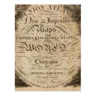 Atlas de la unión de la página de título tarjetas postales