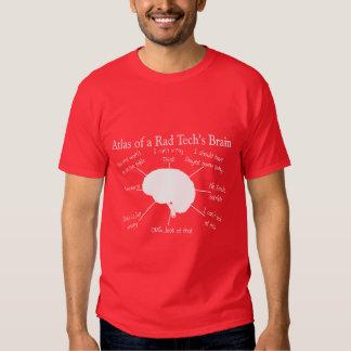 Atlas de las camisetas divertidas del cerebro de camisas