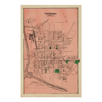 Atlas de las cervezas de Catawissa 1876 Póster