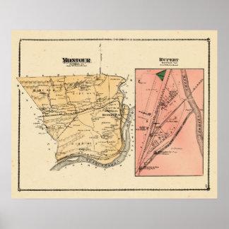 Atlas de las cervezas de Montour Twp Rupert 1876 Póster
