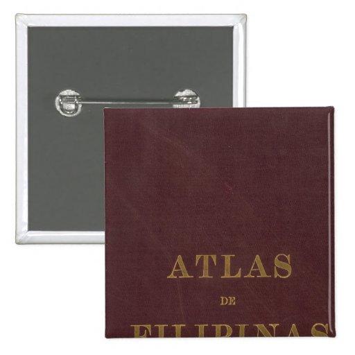 Atlas de las Filipinas Pin Cuadrada 5 Cm