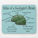 Atlas de los regalos divertidos del cerebro de un  tapete de ratones