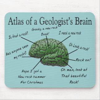 Atlas de los regalos divertidos del cerebro de un  tapetes de raton