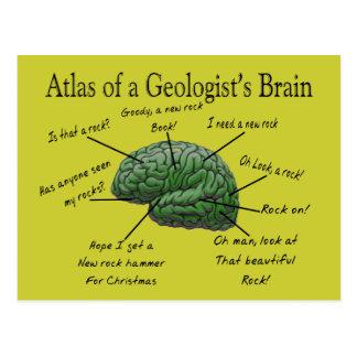 Atlas de los regalos divertidos del cerebro de un postal