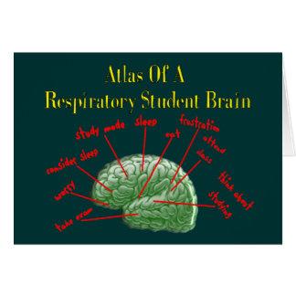 Atlas de los regalos respiratorios del cerebro del tarjeta de felicitación