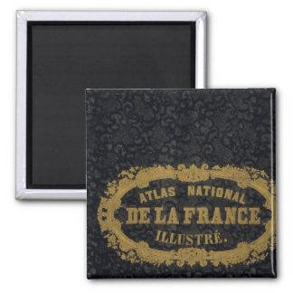 Atlas De nacional Francia Imán Cuadrado