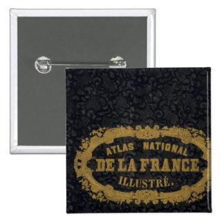 Atlas De nacional Francia Pin Cuadrada 5 Cm
