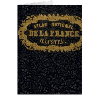 Atlas De nacional Francia Tarjeta De Felicitación