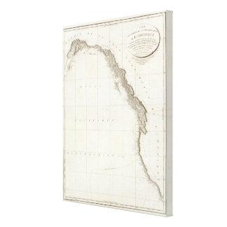 Atlas de Norteamérica Impresiones En Lona Estiradas