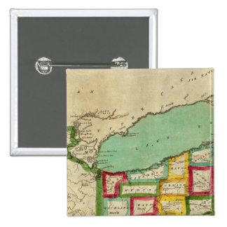Atlas de Ohio Pin Cuadrada 5 Cm