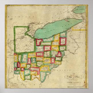 Atlas de Ohio Póster