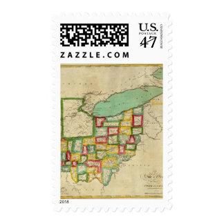 Atlas de Ohio Sello Postal