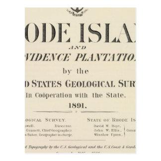 Atlas de Rhode Island de la página de título Tarjeta Postal