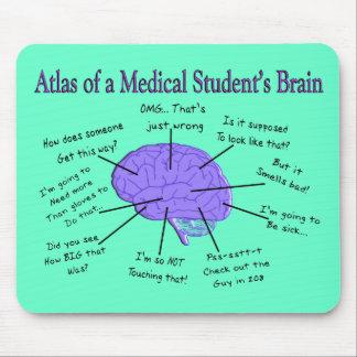 Atlas de un cerebro #2 del estudiante de medicina alfombrilla de raton