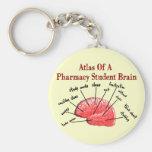 Atlas de un cerebro del estudiante de la farmacia llavero