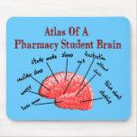 Atlas de un cerebro del estudiante de la farmacia alfombrilla de raton