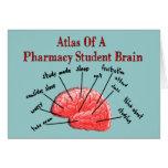 Atlas de un cerebro del estudiante de la farmacia felicitacion