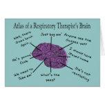 Atlas de un cerebro del terapeuta respiratorio felicitación