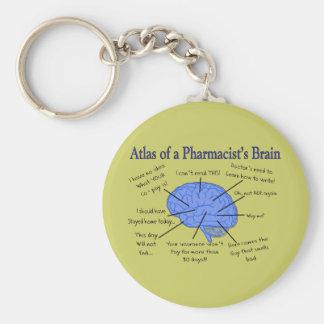 Atlas de un farmacéutico Cerebro-Hilarante Llaveros Personalizados