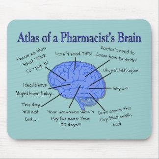 Atlas de un farmacéutico Cerebro-Hilarante Mouse Pad