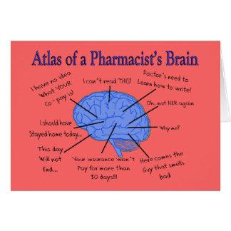 Atlas de un farmacéutico Cerebro-Hilarante Tarjeta De Felicitación