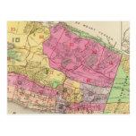 Atlas de Yonkers del mapa de índice Tarjetas Postales