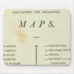 Atlas del americano de la página de título mousepads