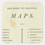 Atlas del americano de la página de título pegatina cuadrada