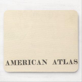 Atlas del americano de la página de título tapete de ratón