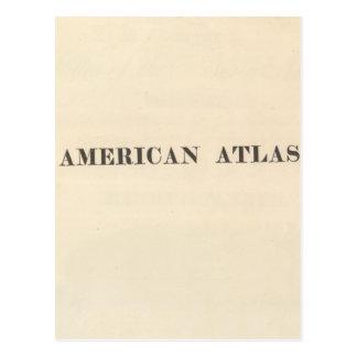 Atlas del americano de la página de título tarjeta postal