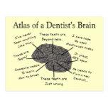 Atlas del cerebro de un dentista postal