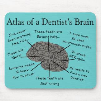 Atlas del cerebro de un dentista alfombrillas de ratón