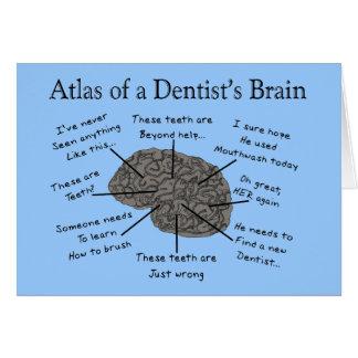 Atlas del cerebro de un dentista felicitación
