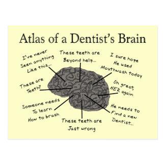 Atlas del cerebro de un dentista tarjeta postal