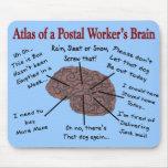 Atlas del cerebro de un empleado de correos tapetes de ratones