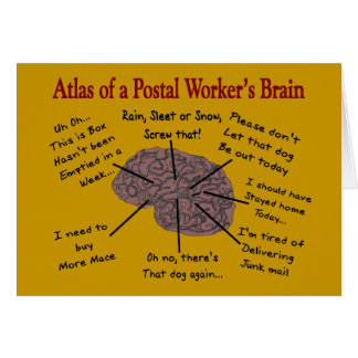 Atlas del cerebro de un empleado de correos tarjeton